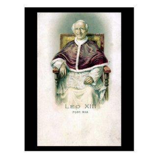 Cartão velho - papa Leo XIII