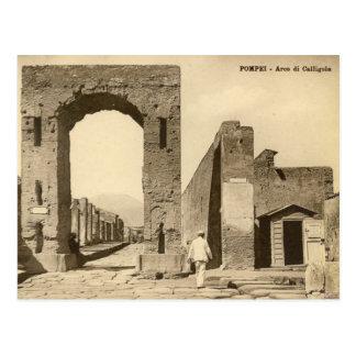 Cartão velho - Pompeia, Arco di Calligola Cartoes Postais