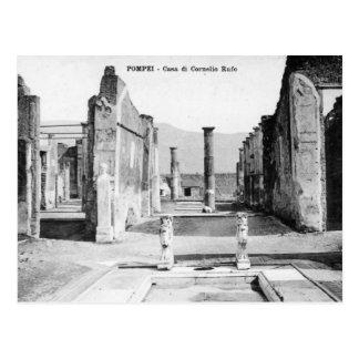Cartão velho - Pompeia, Casa di Cornelio Rufo Cartao Postal