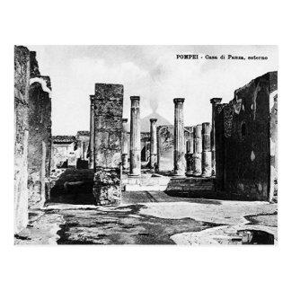Cartão velho - Pompeia, Casa di Panza Cartão Postal