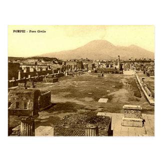 Cartão velho - Pompeia, o fórum Cartao Postal