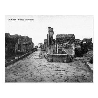 Cartão velho - Pompeia, Strada Consolare Cartão Postal