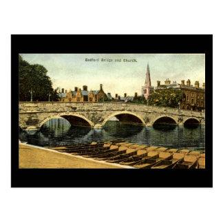 Cartão velho, ponte 1936 de Bedford