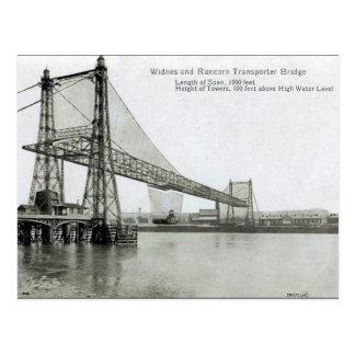 Cartão velho - ponte do transportador de Widnes &
