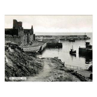 Cartão velho - porto da casca, ilha do homem