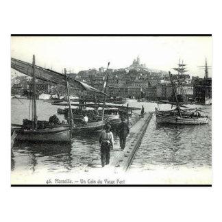 Cartão velho - porto de Vieux, Marselha
