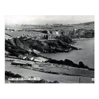 Cartão velho - porto Erin, ilha do homem