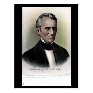Cartão velho - presidente James K Polk dos E.U.