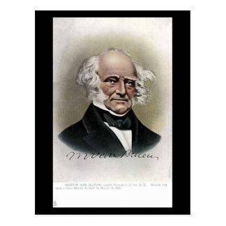 Cartão velho - presidente Martin Van Buren dos