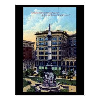Cartão velho - quadrado de Lafayette, búfalo, NY