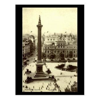 Cartão velho - quadrado de Trafalgar, Londres