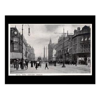 Cartão velho - rei Edward Rua, casca, Yorkshire