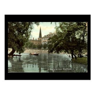 Cartão velho, rio Ouse em Bedford