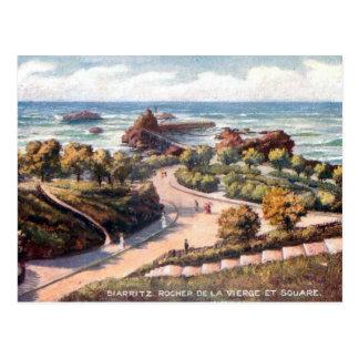 Cartão velho - Rocher de la Vierge, Biarritz