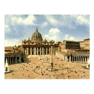 Cartão velho, Roma, St Peter e o vaticano
