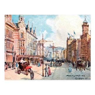 Cartão velho - rua da rainha, Auckland, Nova Cartão Postal
