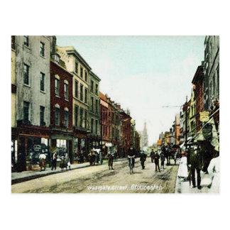 Cartão velho - rua de Westgate, Gloucester