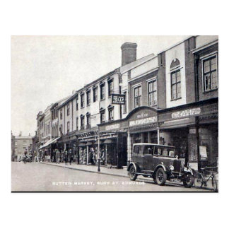 Cartão velho - rua Edmunds do enterro, Suffolk