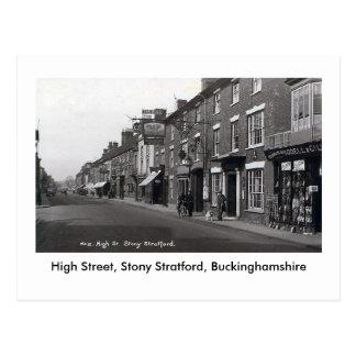 Cartão velho, rua principal rochoso de Stratford