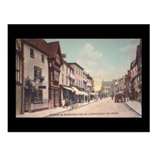 Cartão velho, rua principal, Stratford-em