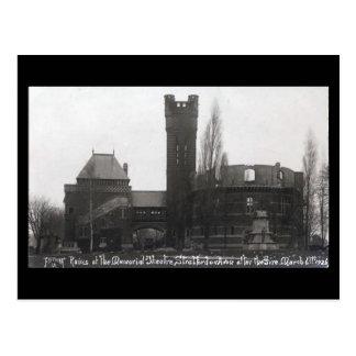 Cartão velho - ruínas do memorial Theat de