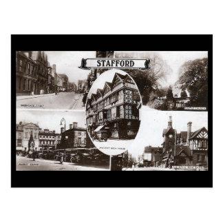 Cartão velho - Stafford, Inglaterra