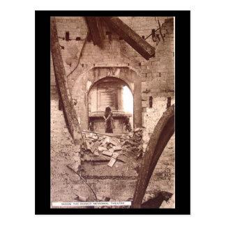 Cartão velho - Stratford-em cima-Avon, ruínas da