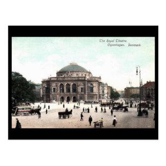 Cartão velho - teatro real, Copenhaga