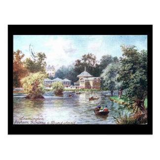 Cartão velho - termas de Leamington, jardins de