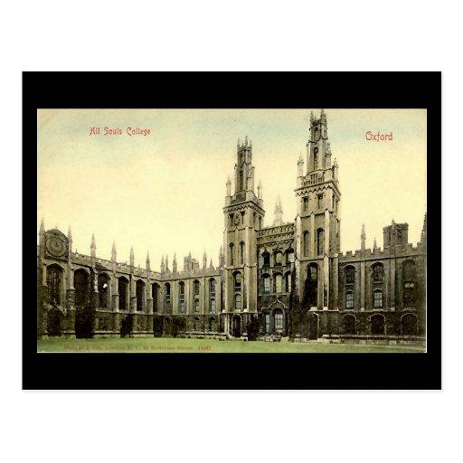 Cartão velho - todas as almas faculdade, Oxford Cartão Postal