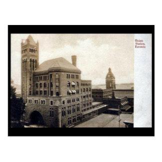 Cartão velho - Toronto, estação da união
