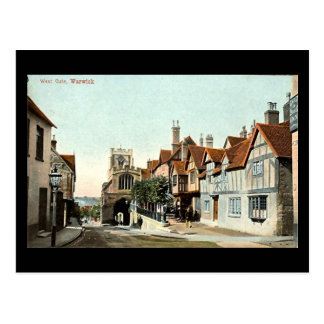 Cartão velho, Warwick, porta ocidental em 1905