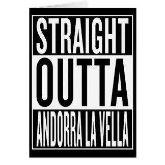 Cartão velinos retos do la de Andorra do outta