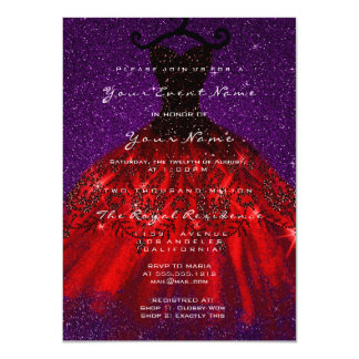 Cartão Veludo nupcial gótico Blac vermelho violeta do