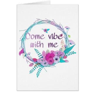Cartão Vem a impressão comigo