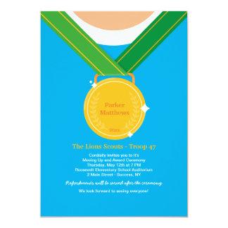 Cartão Vencedores de medalha/convite da cerimónia de