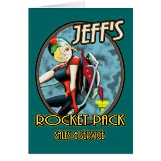 Cartão Vendas & serviço do bloco do Rocket de Jeff