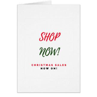Cartão Vendas super do Natal que cumprimentam: Novo na
