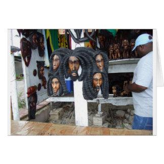 Cartão Vendedor do artesanato de Negril