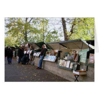 Cartão Vendedores de livro ao longo do Seine