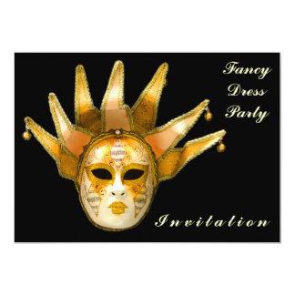 Cartão Venetian do convite da máscara do carnaval Convite 12.7 X 17.78cm