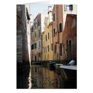 Cartão Veneza da gôndola