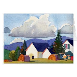 Cartão ventoso da tarde do verão