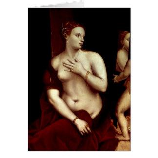 Cartão Venus na frente do espelho