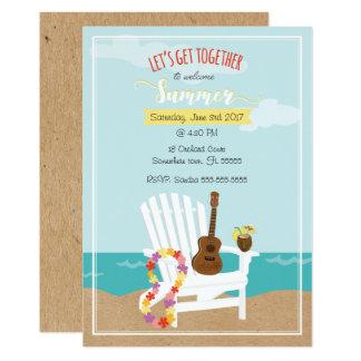 Cartão Verão bem-vindo customizável