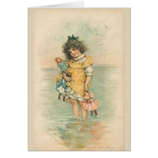 Cartão Verão no mar,