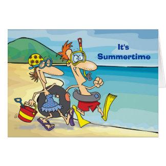 Cartão Verão - praia