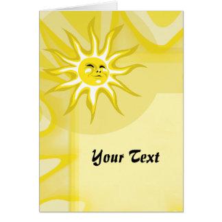 Cartão Verão Sun, cumprimento feito sob encomenda da luz
