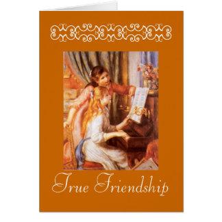 Cartão verdadeiro da amizade