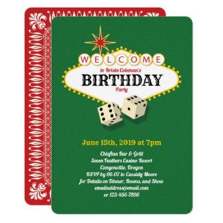 Cartão Verde 2 da festa de aniversário do famoso de Las